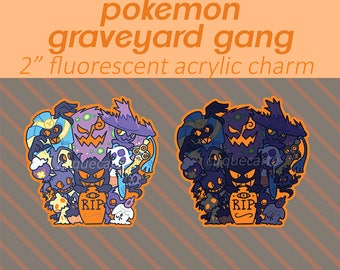 "Pokemon: Ghost Types 2"" Single-sided Acrylic Keychain Charm"