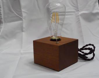 Mahogany Edison Light