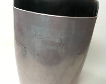 Vintage Westbend Aluminum Cookie Canister Rose