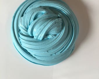 Fluffy ocean blue slime