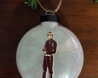 Luke Skywalker Star Wars Christmas Ornament - Vintage Rub-On