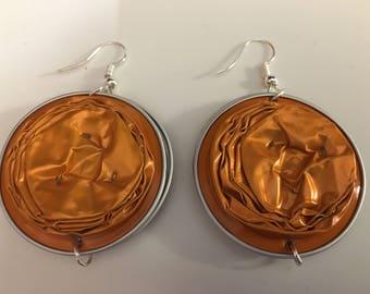 "Orange color ""Expresso"" earrings"