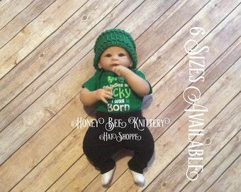 Basket Weave Hat - 6 Sizes Available; green, St. Patrick's Day, Green Bay   ***READY TO SHIP***