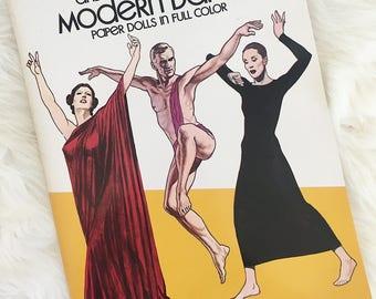 Modern Dance Paper Dolls Book, Isadora Duncan, Martha Graham Paper Dolls