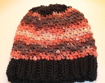 Black Rimmed Pink Crochet Hat