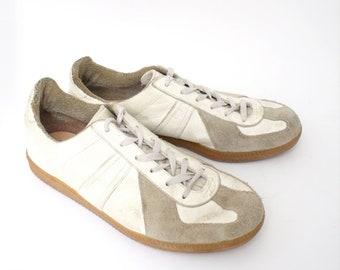 EU 42 - vintage German Army trainers - bw sport 270 white grey - Uk 8 / Man Us 9 / women Us 10 - vintage sneakers - maison margiela line 22