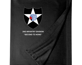 2nd Infantry Division Embroidered Blanket-3329