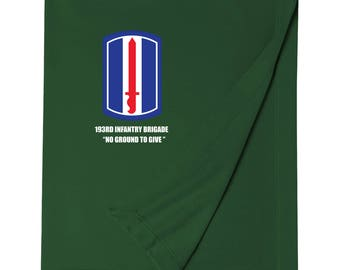 193rd Infantry Brigade Embroidered Blanket-4161