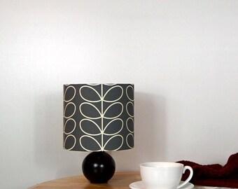Orla Kiely Linear Stem Cool Grey Fabric Lampshade - 3 Sizes Available - Mid Century Modern Retro