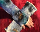 Embroidered mittens...
