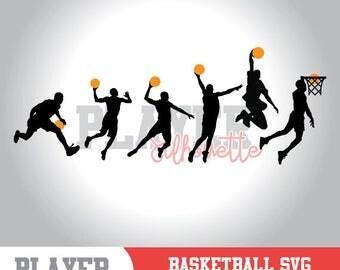 Basketball SVG, Basketball Player SVG, Sport svg, Basketball Image digital clipart, Basketball silhouette, cut file, design, A-053