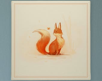 Curious Little Fox, Nursery Decor, Nursery Prints, Nursery Art Be Brave Be Kind Be Clever Be Wise Be Curious Be Silly