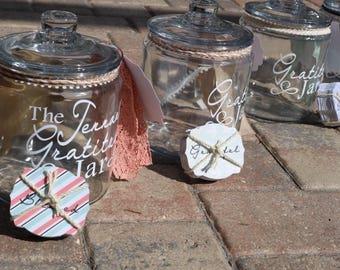Personalized Gratitude Jar - Customizable Gratitude Jar - You Pick The Colors! - Gratitude Jar -Blessings Jar - Large Gratitude Jar