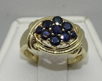10K Sapphire Ring .Sapphire 0.50ct