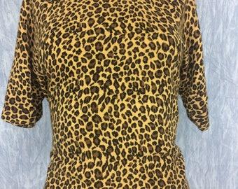 Vintage Leopard Turtleneck