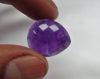 100% Natural Amethyst Gemstone,Amazing Heart Shape, Faceted Amethyst gemstone, Shape-Heart, Size-21X18X8MM, 23.7 Carat, codeJJ47.