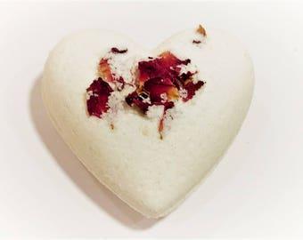 Rose Heart Petals Bath Bomb