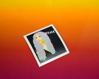 Kesha Vinyl Sticker
