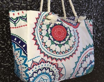 Mandala Canvas Tote Bag