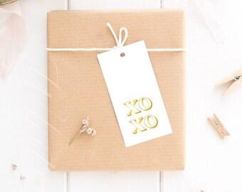 White and gold wedding tags Chic wedding xo xo tags Royal gold wedding favor tag Bohemian wedding gift tags Modern wedding tags - DIGITAL