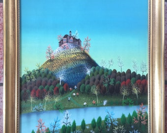 Original Oil Painting on Canvas M. C. BLASNAVSKI (1920 -) Listed 18 x 22