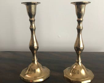 Beautiful brass candle holders, vintage