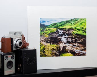 Babbling Brook -Mounted Landscape Photograph