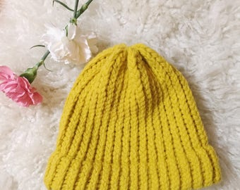 MUSTARD handmade hat by Viva's Craft House