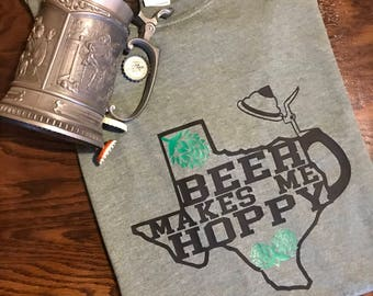 Beer Makes Me Hoppy Shirt