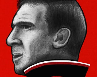 Eric Cantona - Manchester United - Illustration