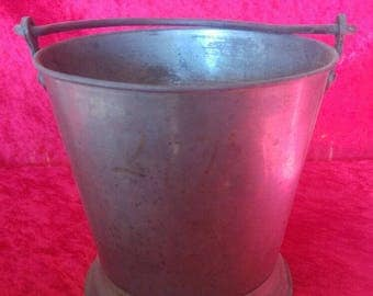 Vintage Great Condition Antique Hand Made Ottoman Style Brass Bucket #MB1