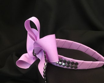 Lavender and Silver Studded Headband
