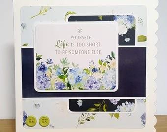 Be Yourself Handmade Card