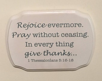 Bible Verse Wood Sign, 1 Thessalonians 5:16-18 Sign
