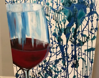 Paint in the Wine - Acrylic on Canvas Original