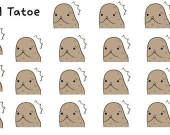Surprised Tatoes Stickers