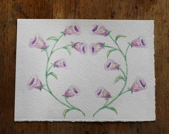 Flower Watercolour//Floral Wreath Painting//Boho Decor//Wall Art//