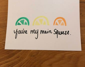Pack of 5 You're My Main Squeeze Year Round Valentines