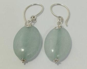 Chalcedony - Silver earrings
