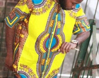 African clothing, Green Dashiki For Men's, African dashiki shirts, men Dashiki, African Clothing, Men's Tailored dashiki, African fashion