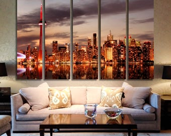 Toronto Skyline at Sunset Toronto City Toronto Canvas Toronto Art Toronto Skyline Toronto Print Toronto Photo Toronto Poster Ontario Canada