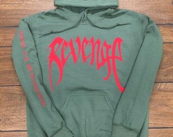 XXXTentacion Hoodie Revenge Hoodie Inspired (Red Logo)