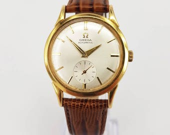 1950 Vintage Omega 18ct Gold Watch Automatic Bumper Movement