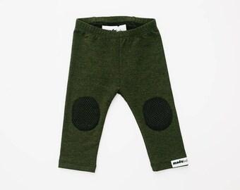 GripStart Leggings™ - Forest Green/Black