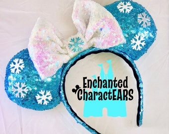 Elsa Ears Frozen Ears Custom Minnie Ears