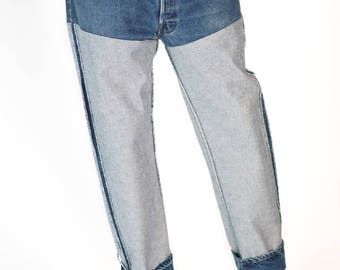 Redesigned Reversed Vintage Levi's 501 Denim Jeans