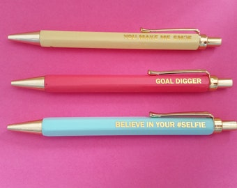 Quote and color pens