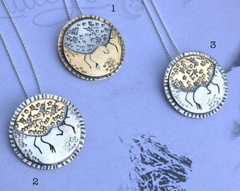 Little Luna Collection - Mixed Metal Tag Pendant