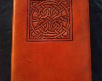 Celtic Leather Journal Knot Pattern from Glammis Manse Stone