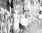 Selective Destruction FREE SHIPPING Surreal photo print Creepy portrait Fine art image Plaster over woman's face Scratch Dark Art Home decor